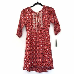 [COPPERKEY] NWT orange bold colorful 70's dress L